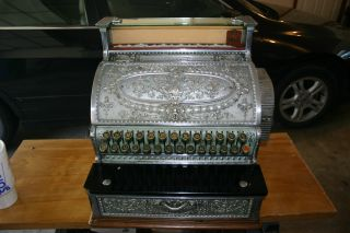 Antique National Cash Register,  Nickel Plating,  Printer,  All Keys Work photo