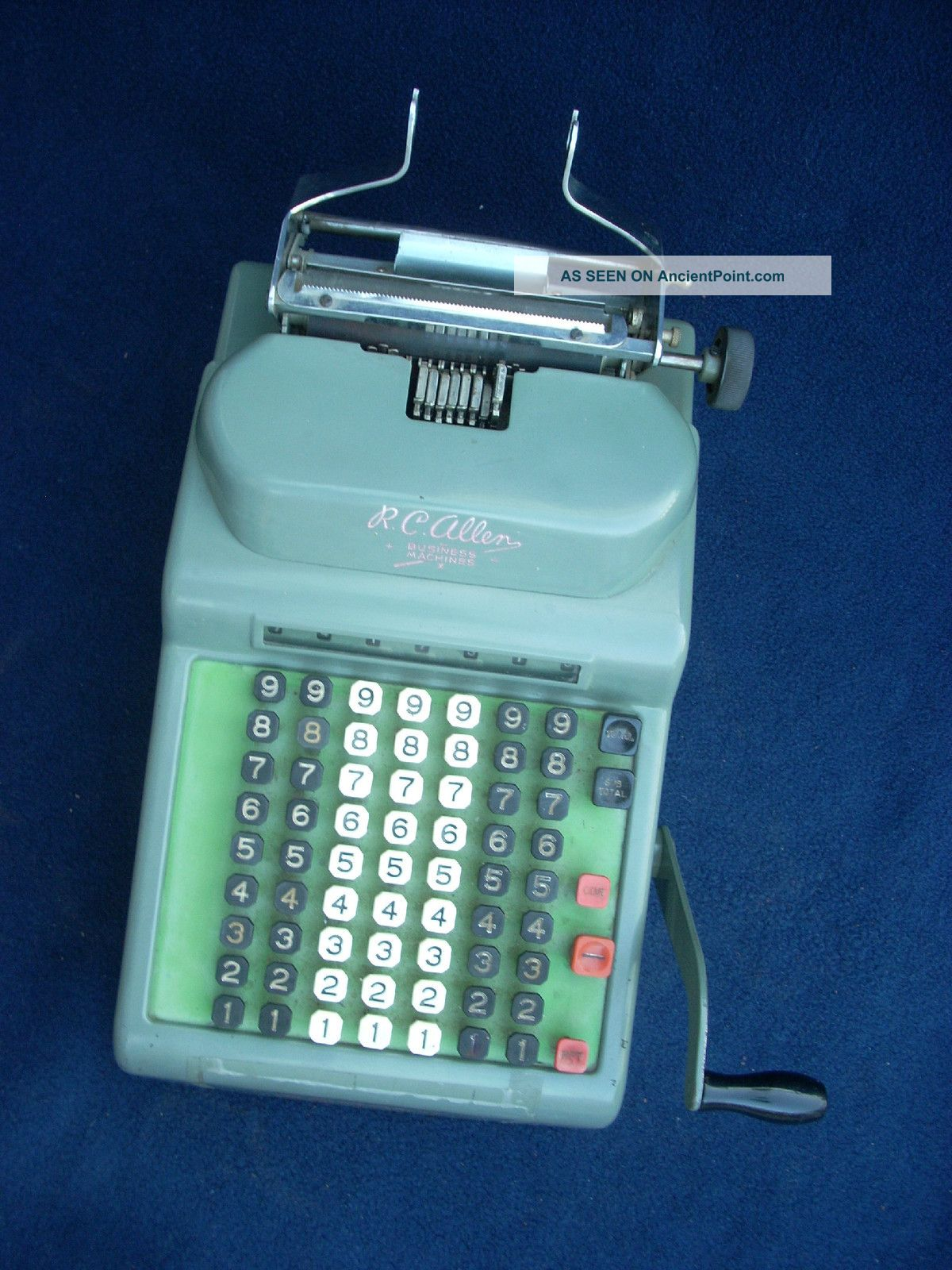 check writing machine 5, is a side view of the check writing machine of fig 1 showing the front of the machine on the left and.