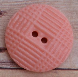 Nbs Medium Pink China Button Pattern - Eye Cross 7/8