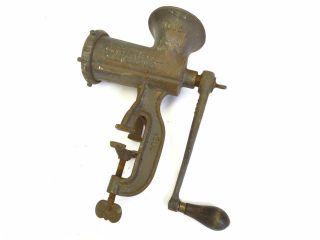 Antique Old Metal Cast Iron Enterprise Mfg No 10 Tinned Meat Chopper Grinder Nr photo