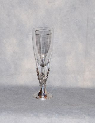 Hazorfim Israel Sterling Silver Crystal Logus Goblet photo