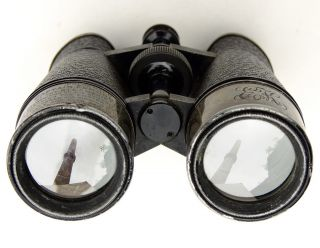 Busch Terlux 9x Binoculars.  Commerative Captain ' S Issue.  Silver Sunshades.  9x40 photo