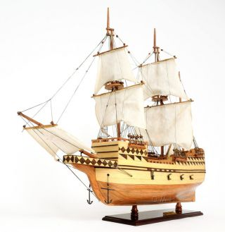 Mayflower 1620 Plymouth Pilgrim ' S Wooden Ship Model 31