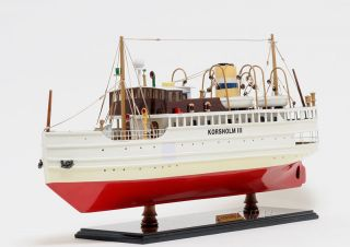 Korsholm Iii Ferry Boat Wooden Model 24