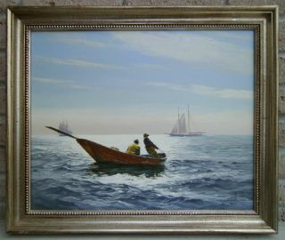 Painting On Canvas By Marine Artist Ben Neill - Titled