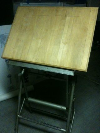 Unic Drafting Drawing Table - Industrial/loft/machine Age/vintage photo