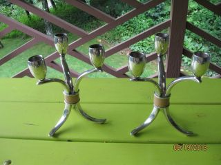 Matching Pair Of 1940 - 1950 Candle Holders