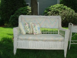 Antique Wicker Loveseat - photo