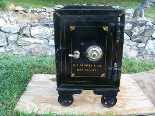 Antique Baltimore Md / R J Spencer & Co Combination Safe With Combo Vtg Maryland photo