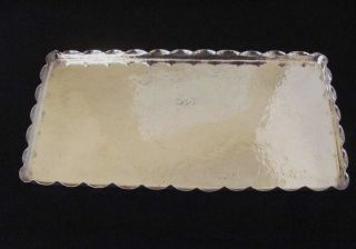 Austrian Art Deco Silver Tray / Heavy Hammered.  800 Silver 428 Grams Hallmarked photo