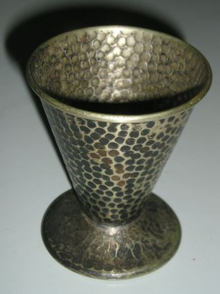 Rare Antique T&t Hand Hammered Large Shot Glass.  Beauty photo