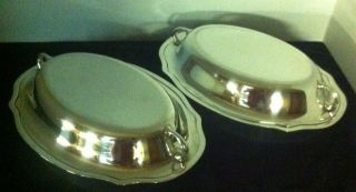 Gorham Sterling Silver C1929 Covered Entree ' Dishes (2) Matching 1656 Grams photo