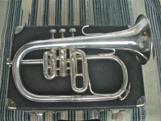French Couesnon Eb Soprano Flugelhorn,  Sweet Player,  Olds Mpc photo