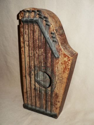 Antique 1899 The Harp - O - Chord Columbus Oh Harmonica Harp Zither Primitive Music photo