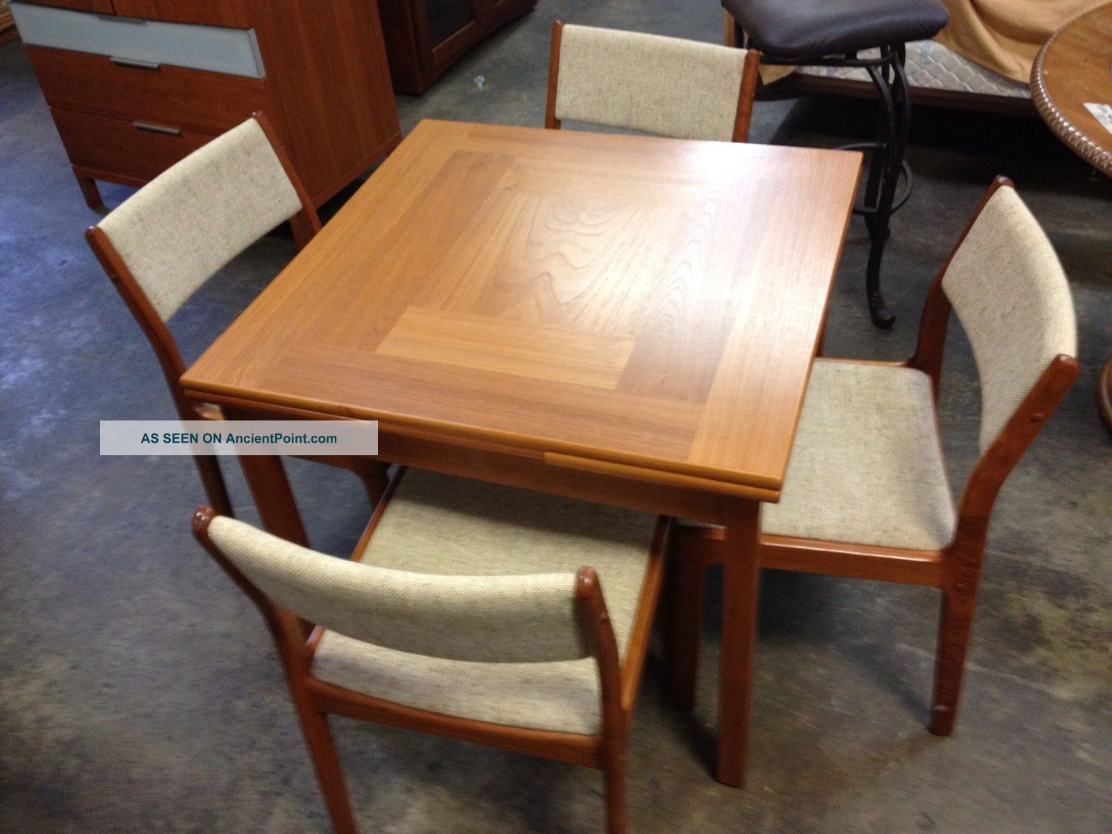 D Scan Mid Century Danish Modern Eames Era Dinette Dining Table And Chairs Set