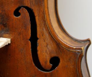 Very Old,  Very Interesting,  Unlabeled,  Antique Violin - All Set - Up,  Luthier Checked photo