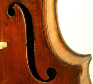 Excellent Antique Violin - Christ.  Gottfried Hamm C.  1790 W/bill Of Sale From 1937 photo