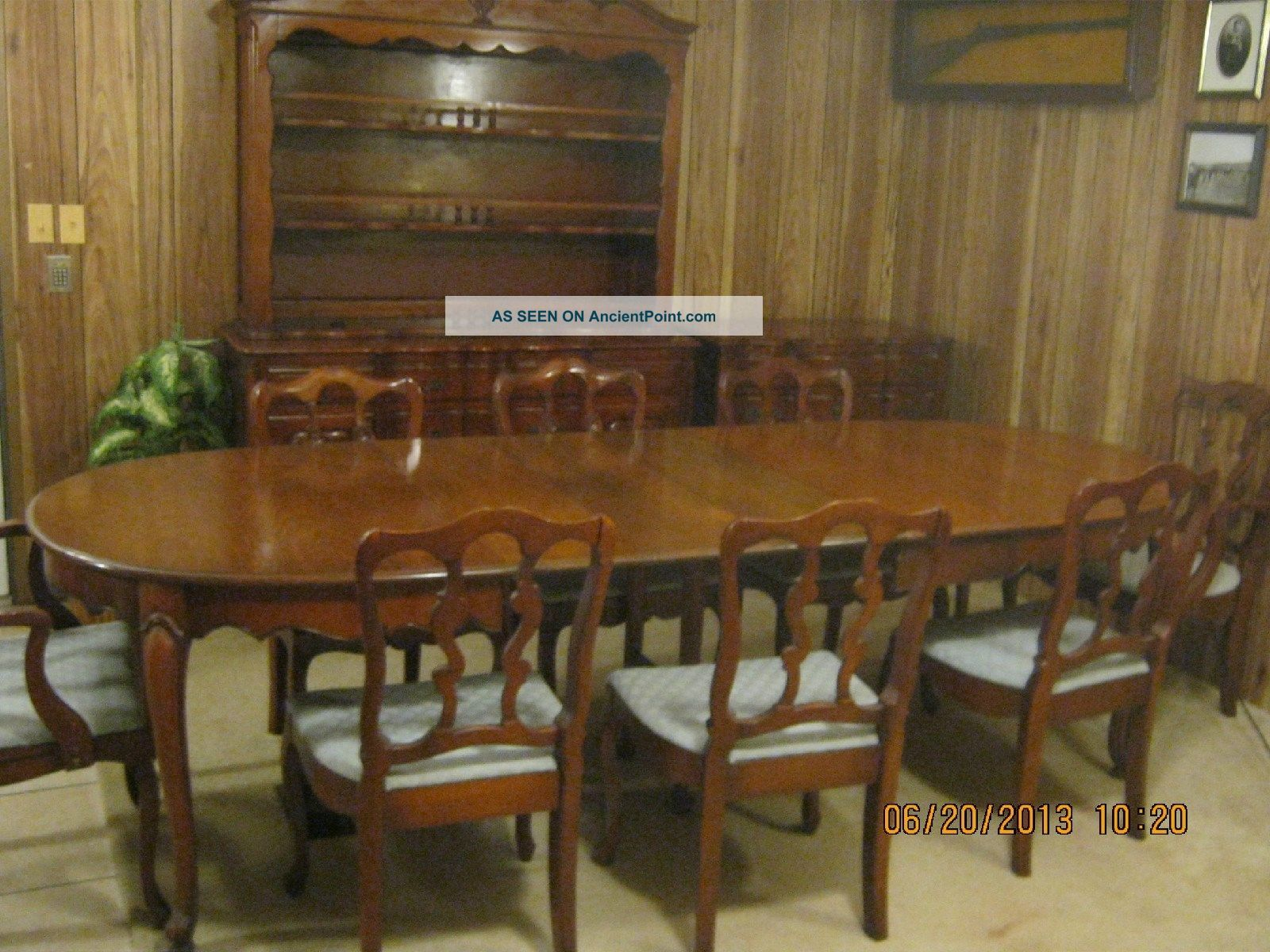 dixon powdermaker vintage dining room set post 1950 photo