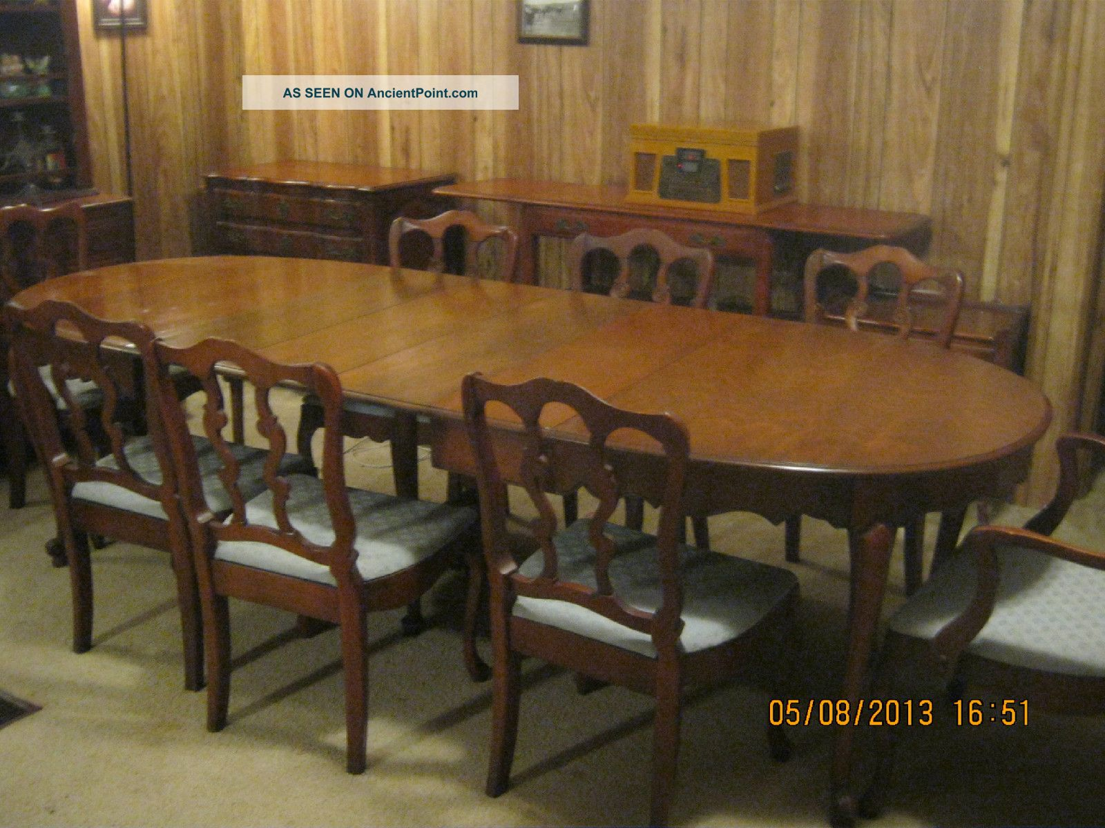American Vintage Dining Room Set Solid Maple Original Post Modern Mid Home