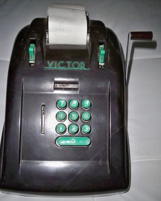 Art Deco Streamline Bakelite Victor Adding Machine Antique Office Machine Age photo