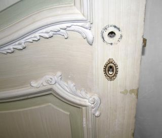 Two Panel White Door - French Detail photo