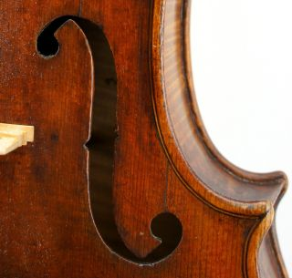 Antique 19th Century Violin,  Grafted Scroll,  Double Pinned, photo