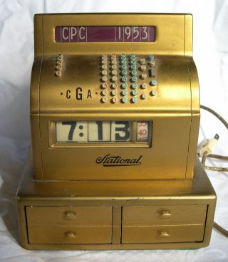 Very Rare 1953 National Cash Register Clock photo