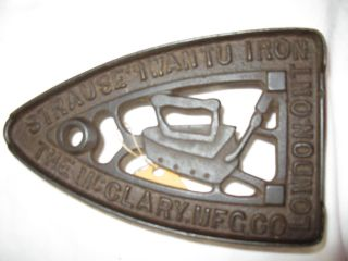 Antique Clothes Iron Trivet: London Ont.  Strause Iwantu Iron The Mcclary Mfg Co photo