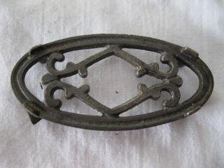 "Antique Small Miniature Clothes Iron Trivet: 3.  5""x1.  75""x0.  5"" photo"