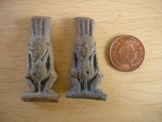 Antique ? Miniature Mayan Inca Aztec Figures photo