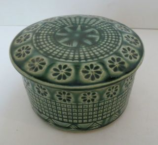 Antique Chinese Or Japanese Ceramic Pottery Covered Dish Box Exquisite Glaze photo