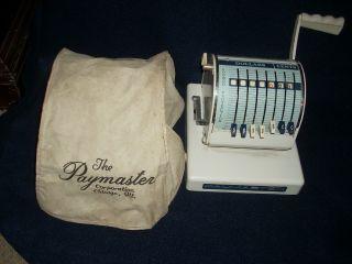 Vintage White Paymaster X - 550 Payroll Check Printer Embosser Adding Machine photo