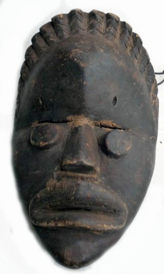Dan African Very Fine Bassa Artifact Danced Wood Face Mask Ancestral Ethnix photo