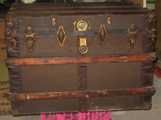 Vintage Steamer Trunk Chest photo