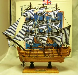Hms Bounty Sh12,  In Box,  Handmade Replica Model Ship photo