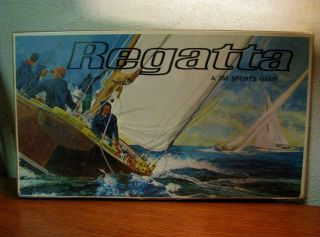 1960 ' S Regatta Nautical Strategic Yacht Racing Board Game By 3m Complete Mint photo