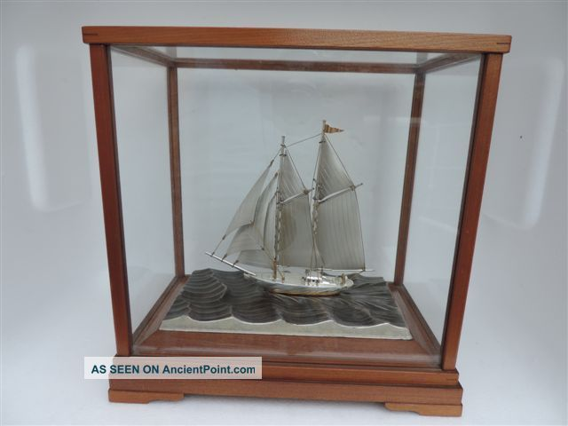 Finest Japanese Two Masted Sterling Silver 960 Model Ship By Seki Takehiko Japan Other photo