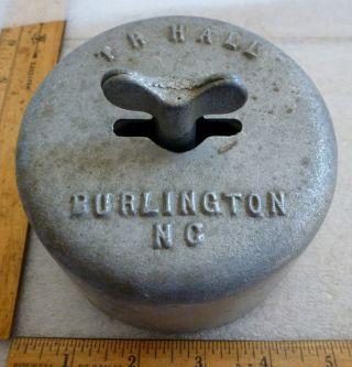 Vintage Advertising Burlington N.  C.  Metal Industrial Butter Mold Press photo