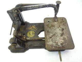 Antique 1870 Metal Cast Iron Ornate Wheeler & Wilson 97017 Sewing Machine Parts photo