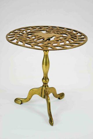 Georgian Reticulated Brass Footman / Trivet,  English. photo
