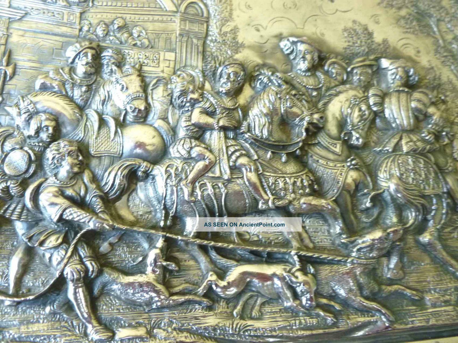Henryk Winograd Pure Silver King Henry Viii Hunt Plaque Uk Hallmarks & Hw999 Other photo