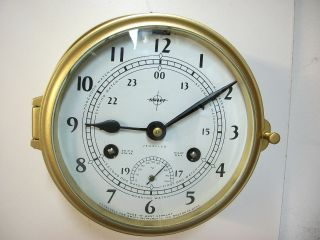 Vintage Schatz Swift Marine Ships Clock Excellent Working Condition photo