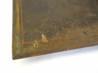 Antique Old Cast Iron Painted Ny10980 Four Legged Free Standing Hot Plate Trivet photo