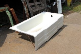 White Porcelain Bathtub 1950 ' S Skirt Tub photo
