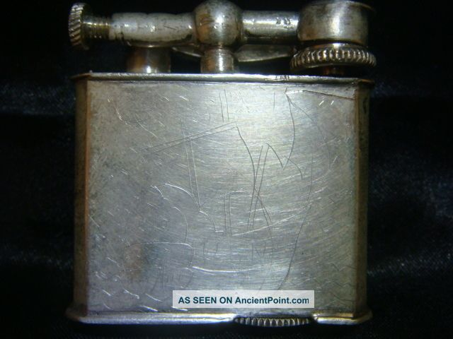 Vintage Antique Mexico Mexican Sterling Silver Lift Arm Lighter Mexico photo