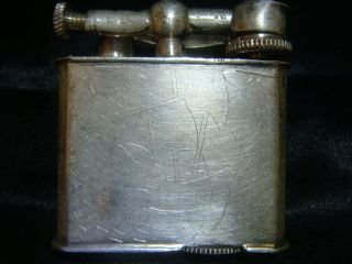 Vintage Antique Mexico Mexican Sterling Silver Lift Arm Lighter photo