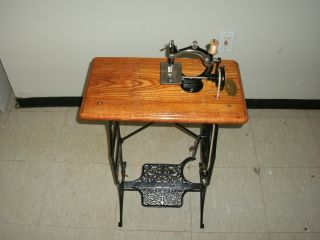 1880 Ideal Child ' S Treadle Sewing Machine W/ Made In The Usa Id Plate - Restored photo