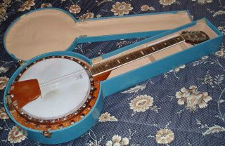 American Made Remo Weatherking Masterpiece 6 X Stringed Banjo Guitar With Case photo