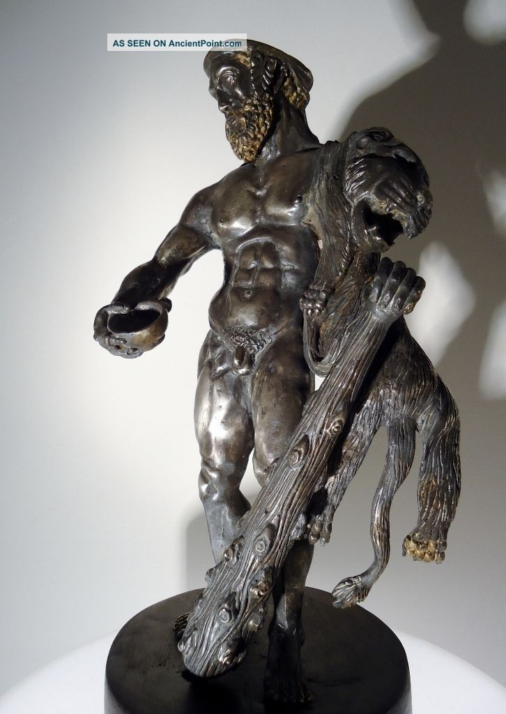 C.  1600 A Renaissance Solid Silver Hercules Masterwork - 3500g Statues photo
