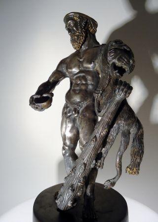 C.  1600 A Renaissance Solid Silver Hercules Masterwork - 3500g photo